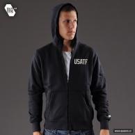 Levné značkové mikiny Nike Ru USATF FZ Hoody
