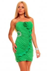 Krátké zelené společenské šaty