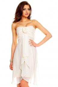 Levné bílé společenské večerní šaty