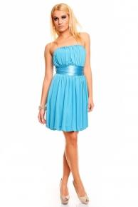Dívčí modré společenské večerní šaty