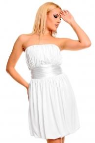 Bílé večerní šaty