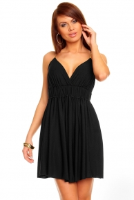 Černé večerní šaty levné