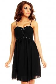 Černé plesové šaty krátké