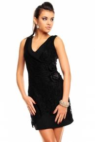 Krátké černé společenské šaty ve výprodeji