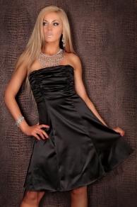 Krátké šaty plesové černé