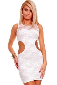 Bílé krátké plesové šaty