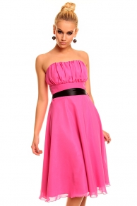 Růžové krátké plesové společenské šaty
