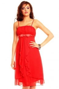 Červené plesové šaty krátké