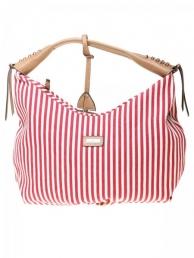 Pruhovaná kožená kabelka dámská