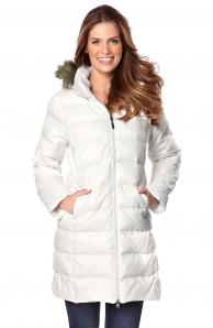 Bílý kabát zimní dámský