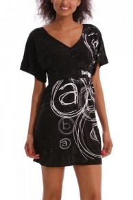 Černé letní šaty Desigual 42V2125_2000_ss14