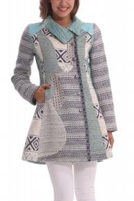 Designové kabáty Desigual 40E2957_5067_ss14