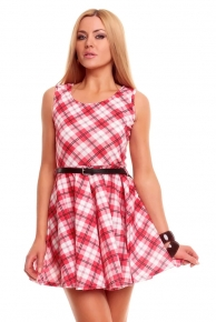 Letní šaty s páskem