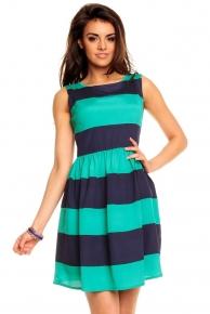 Pruhované letní šaty