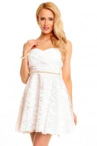 Bílé koktejlové šaty do 1000 Kč