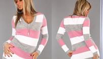 Elegantní levné dámské svetry, pulovry a kardigany v akci