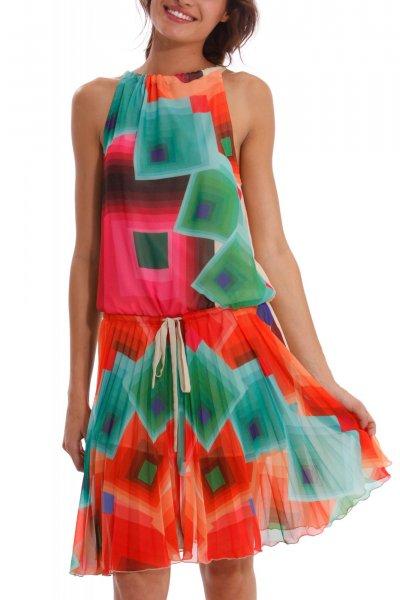 ee707200bf1 Dámské šaty Desigual 40V2153 2000 ss14 (výprodej) Barevné šaty Desigual  41V2124 1010 ss14 ...